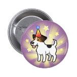 Cumpleaños Jack Russell Terrier Pin Redondo 5 Cm