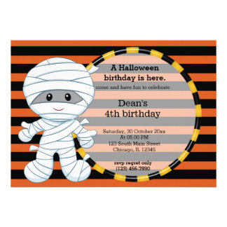 Cumpleaños lindo de Halloween Invitaciones Personalizada