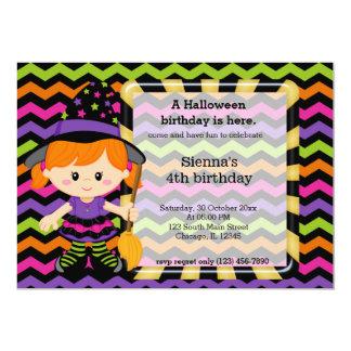 """Cumpleaños lindo de Halloween Invitación 5"""" X 7"""""""