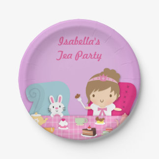 Cumpleaños lindo de la fiesta del té de princesa platos de papel