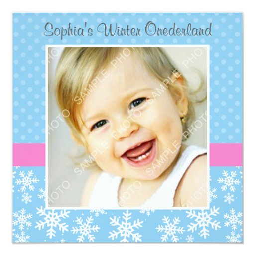 Cumpleaños lindo de la foto de Onederland del Invitación 13,3 Cm X 13,3cm