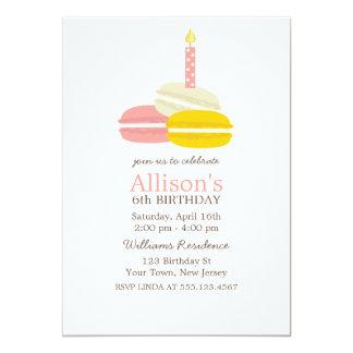 Cumpleaños lindo de Macarons del francés Invitación 12,7 X 17,8 Cm