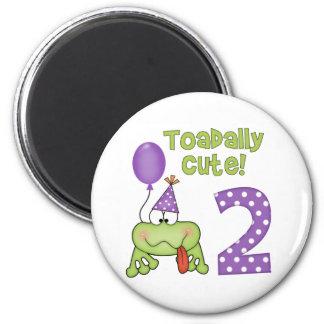 Cumpleaños lindo de Toadally 2do Imán De Frigorifico