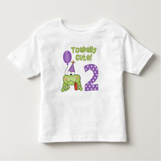 Cumpleaños lindo de Toadally 2do Tshirt