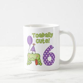 Cumpleaños lindo de Toadally 6to Taza De Café
