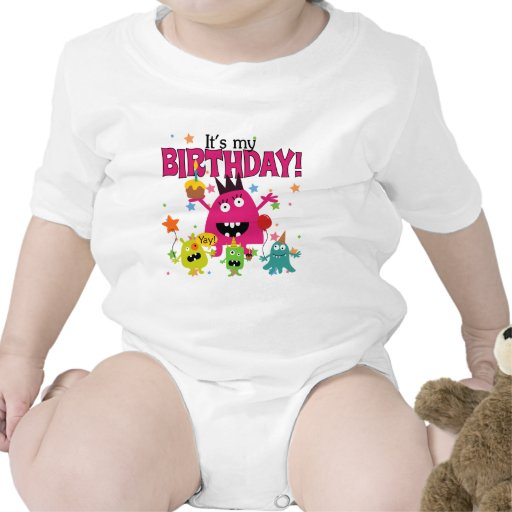 Cumpleaños lindo del monstruo de los niños trajes de bebé