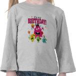 Cumpleaños lindo del monstruo de los niños camiseta