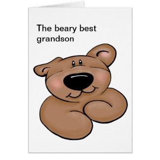 Cumpleaños lindo del oso de peluche tarjeta de felicitación