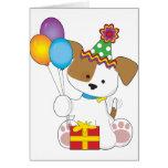 Cumpleaños lindo del perrito felicitación