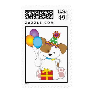 Cumpleaños lindo del perrito franqueo
