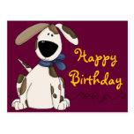 Cumpleaños lindo del perro postal