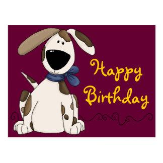 Cumpleaños lindo del perro tarjeta postal