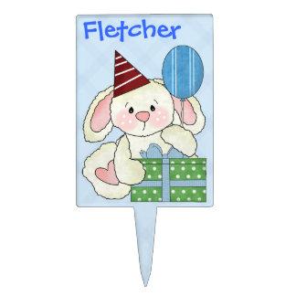 Cumpleaños lindo del personalizado del conejito de decoraciones de tartas