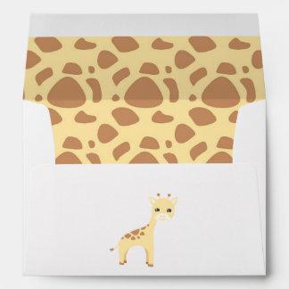 Cumpleaños lindo del safari sobres