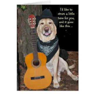 Cumpleaños lindo/divertido del perro tarjeta de felicitación