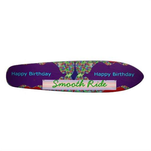Cumpleaños LISO: El texto Editable substituye sus  Patín Personalizado