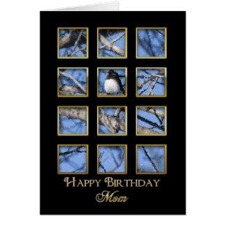 Cumpleaños - madre naturaleza a través de una vent tarjeta de felicitación