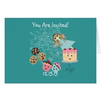 Cumpleaños mágico de la invitación de los días del tarjeta de felicitación