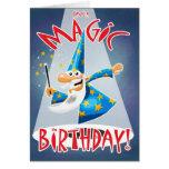Cumpleaños mágico tarjeta de felicitación