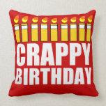Cumpleaños malo almohadas