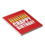 Cumpleaños malo libretas para notas
