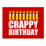 Cumpleaños malo postal