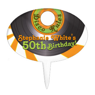 cumpleaños maravilloso de 45 expedientes del disco figuras para tartas