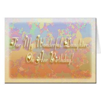 ¡Cumpleaños maravilloso de la hija! Felicitaciones