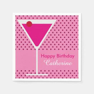 Cumpleaños moderno festivo del personalizado de servilleta de papel