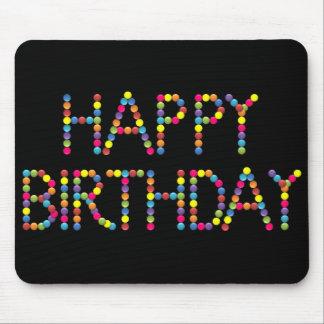 Cumpleaños MousePad del arco iris del fiesta del c Alfombrillas De Ratón