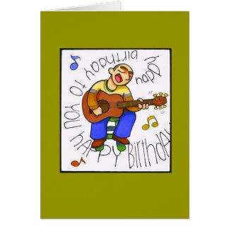 """cumpleaños musical "" tarjetón"
