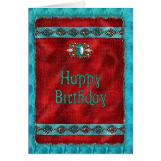 Cumpleaños - nativo americano - estilo al sudoeste tarjeta de felicitación