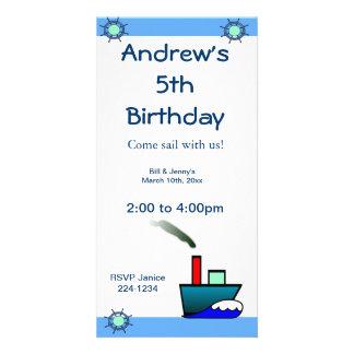 Cumpleaños náutico de la nave de Litte Tarjeta Fotografica