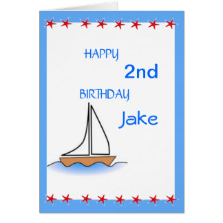 Cumpleaños náutico del velero de Litte Felicitacion