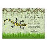 Cumpleaños negro dulce LINDO de la selva de las Invitación 12,7 X 17,8 Cm