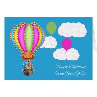 Cumpleaños nosotros dos tarjeta de felicitación