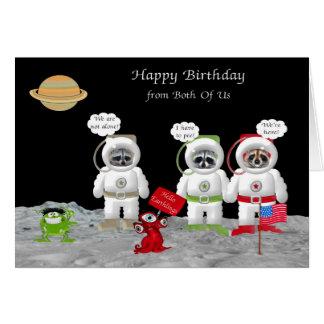 Cumpleaños nosotros dos tarjetas de felicitación