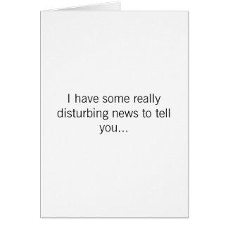 Cumpleaños - noticias que perturban tarjeta de felicitación