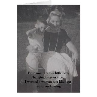 Cumpleaños - nunca puesto que era un niño pequeño, tarjeta de felicitación