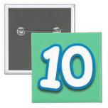 Cumpleaños o aniversario de 10 años - añada el tex pins
