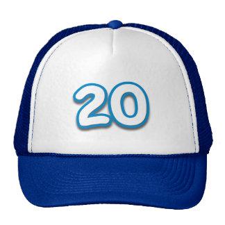 Cumpleaños o aniversario de 20 años - añada el tex gorros bordados