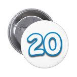 Cumpleaños o aniversario de 20 años - añada el tex pin