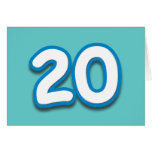 Cumpleaños o aniversario de 20 años - añada el tex tarjeton