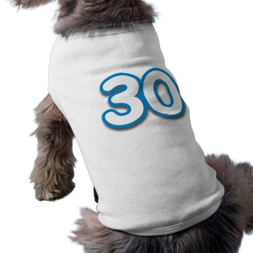 Cumpleaños o aniversario de 30 años - añada el camiseta sin mangas para perro