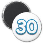 Cumpleaños o aniversario de 30 años - añada el tex imanes para frigoríficos