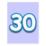 Cumpleaños o aniversario de 30 años - añada el tex postales
