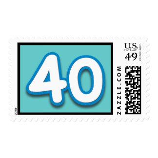 Cumpleaños o aniversario de 40 años - añada el franqueo