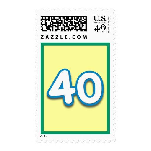 Cumpleaños o aniversario de 40 años - añada el sellos