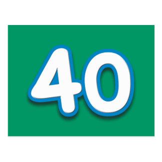 Cumpleaños o aniversario de 40 años - añada el postal