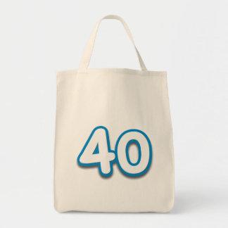 Cumpleaños o aniversario de 40 años - añada el tex bolsa tela para la compra